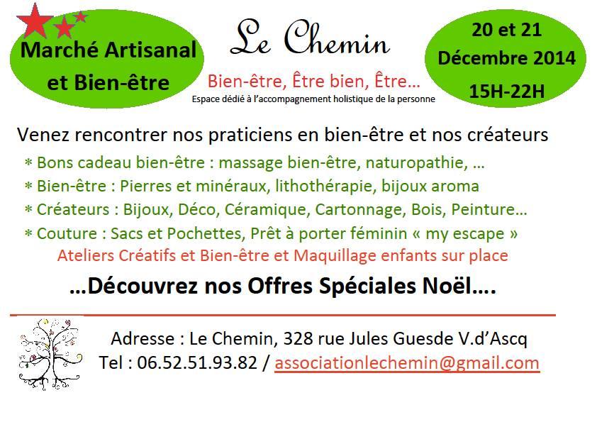 141220 - Marché Artisanal et Bien-être à Villeneuve d'Ascq